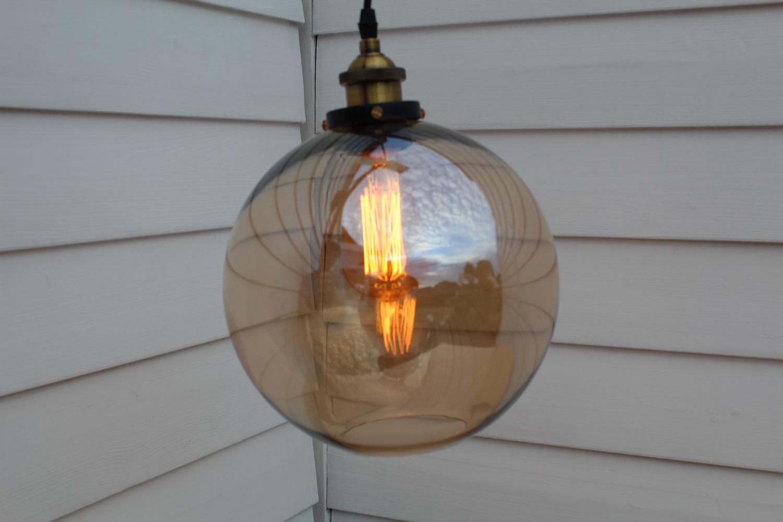 Edison-Rauchglas-Lampe